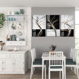 תמונת קנבס עשן אומנותי לסלון לעיצוב הבית
