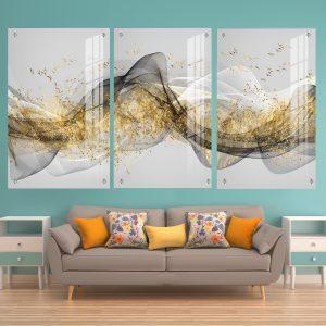 תמונת זכוכית - שובל האבסטרקט לעיצוב הבית על קיר בסלון