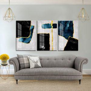 תמונת קנבס אבסטרקט ריבועי לסלון לעיצוב הבית