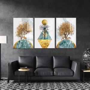 תמונת קנבס גבעות גאומטריות לסלון לעיצוב הבית