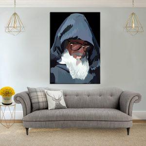 תמונת קנבס הרב אלעזר אבוחצירא לסלון לעיצוב הבית