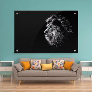 תמונת קנבס אריה כחול העין לסלון לעיצוב הבית
