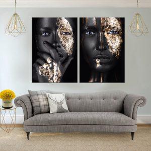 תמונת קנבס פרצוף זהב