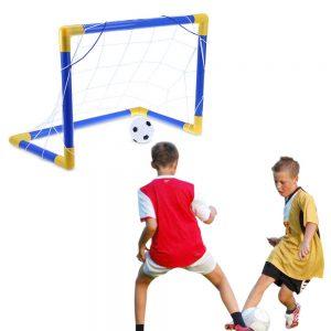 סט שער כדורגל לחצר / גינה: שער + רשת + כדור + משאבה